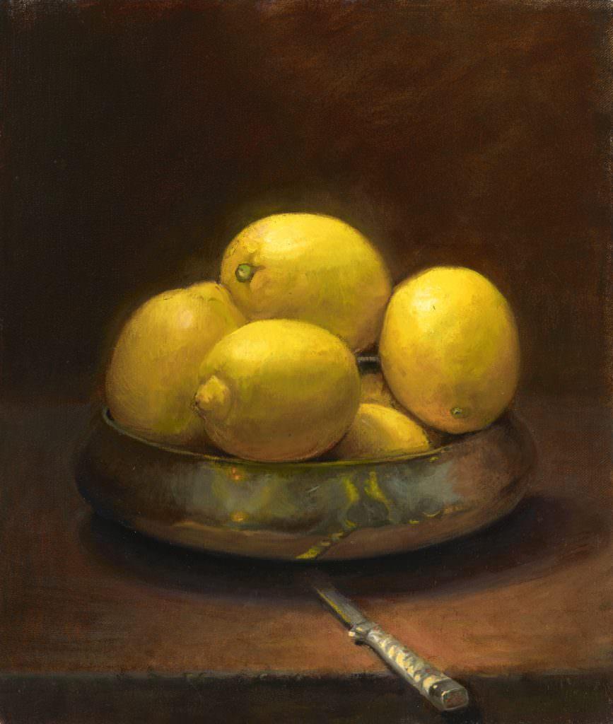 Lemons in Brass Bowl jpeg
