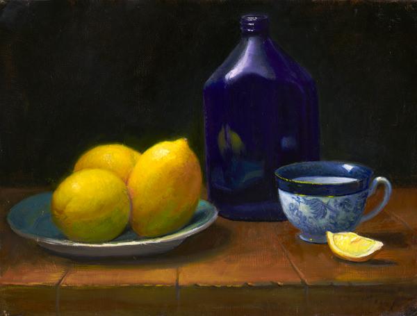 LemonsWithBlue&WhiteCup